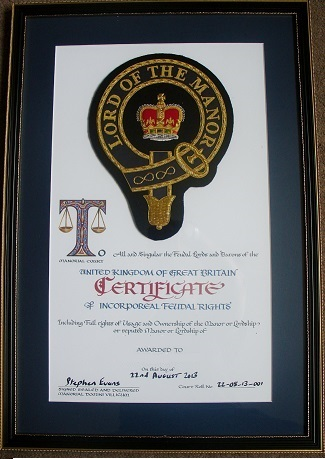 Lordship certificate