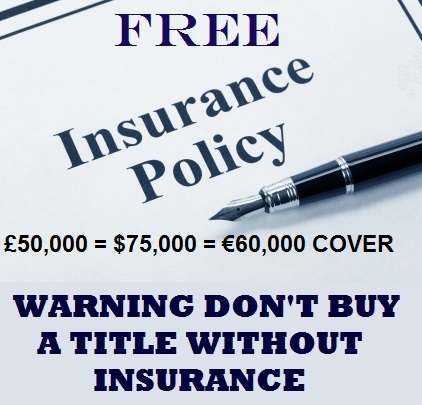 FREE TITLE INSURANCE