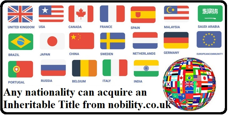 Any Nationality can buy a Title