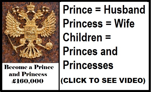 PRINCE & PRINCESS TITLE FOR SALE