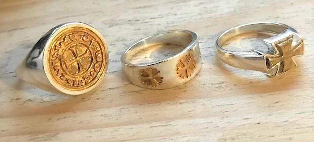 Knights Templar Silver rings