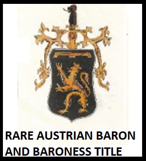Austrian Baron Title for sale