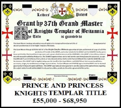 Knights Templar Prince Title